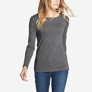 CAbi #3626 Drop-in Tee Long Sleeve Gray Small